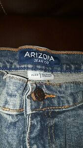 Arizona Jean Co 36/34 Blue Relaxed Straight Leg /NWT