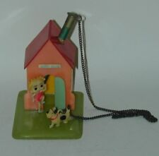 Betty Boop Celluloid Pencil Holder Happy House & Dog Occupied Japan Circa 1950