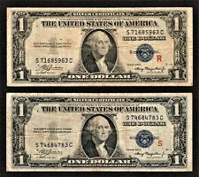 (2). FR.1610 $1 1935-A Silver Certificate Red R.&.S Experimental Cir/Notes.