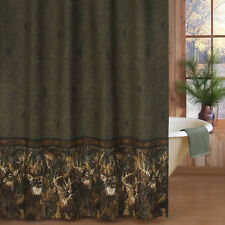 """Browning Whitetails Fabric Shower Curtain 72"""" x 72"""" Free Shipping"""
