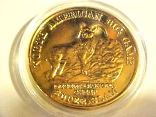 North American Big Game Super Slam Bighorn Sheep 1oz Round Proof Gold Plate G641