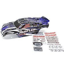 Traxxas Rustler Truck Body Wing Blue Black Grey White Painted Decals XL5 VXL