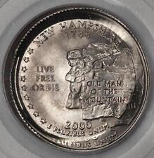 2000 PCGS MS65 Double Struck O/C Broadstruck New Hampshire Quarter Mint Errors