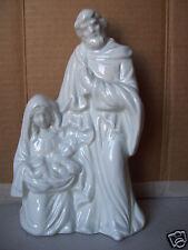 "Christmas Mary Joseph & Baby Jesus 7.5"" Nativity Porcelain Figurine"