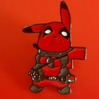 Pikachu Deadpool Pin Pokemon Pin Enamel Retro Metal Brooch Badge Lapel