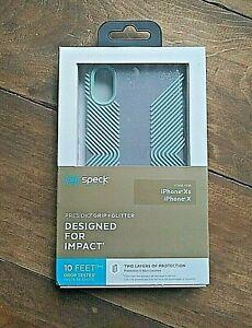 Speck Presidio Grip + Glitter, Mint Silver Glitter case for iPhone XS/X