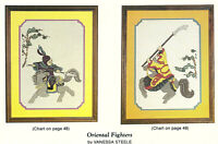Oriental Fighters Cross Stitch Pattern Charts from a magazine Vanessa Steele