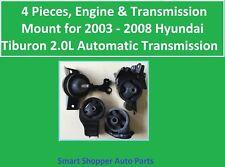 4 Pieces, Engine & Transmission Mount, for 2003 - 2008 Hyundai Tiburon 2.0L A/T