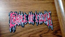 CRADLE OF FILTH,IRON ON EMBROIDERED PATCH
