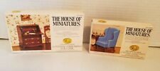 X-acto House of Miniatures Chippendale Desk & Wing Chair Doll House Furniture