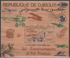 Djibouti postfris 1983 MNH block 87 - Vliegtuigen / Airplanes (S2222)