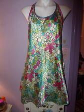 Vintage Nighty Slip Dress Floral Flower No Flaws Large