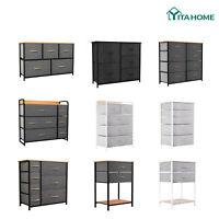 YITAHOME Chest of Fabric Drawer Dresser 2/5/7/8 Bins Organizer Storage Furniture