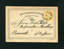 """Österreich  """"Boeh.Leipa""""  auf GA gelb von 1876. Böhmen    (#833)"""