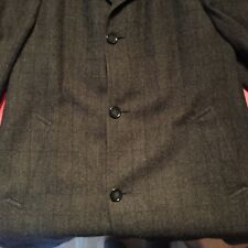 4e99ee3eb BARRON ANDERSON Charcoal Grey Herringbone Wool London Bell Topcoat 46