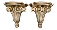 Italian Neoclassical Style Gilt Wood Wall Shelves - A Pair