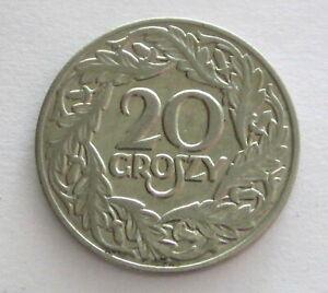Poland Nickel 20 Groszy 1923, Y12, Circulated