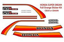 Honda CB250N CB400N Superdream, Superdream decals, Full Sticker Kit. Orange
