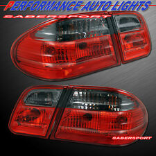 1996-2002 MERCEDES BENZ W210 E-CLASS SEDAN RED SMOKE TAIL LIGHTS 4PCS 97 98 99