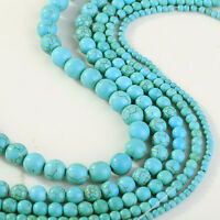 Turquoise Gemstone Round Loose Bead 4/6/8/10mm Beads For Jewelry Making DIY