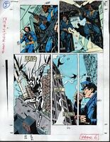 Original 1991 Moon Knight 22 page 5 Marvel comic book color guide artwork:1990's