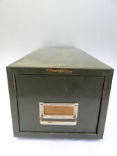 Vintage Retro Art Steel Sales Co Steelmaster Card Cabinet Catalogue Filing Box