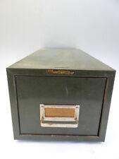 Vintage Retro Art Steel Sales Co Steelmaster Card Cabinet Catalogue Filing Box