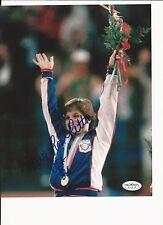 MARY LOU RETTON OLYMPIC GYMNAST HAND SIGNED COLOR 8X10 W/ JSA SOA #2