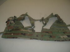 US MILITARY ARMY WOODLAND CAMO VEST MOLLE II FIGHTING LOAD CARRIER SPECIALTY DEF