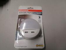 Sylvania LED Automatic Night Light 2 USB Charger Ports