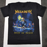 New Megadeth - Rust In Peace T-shirt Band Concert Cotton Reprint S-4XL KN205