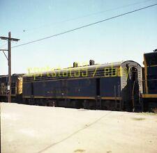 ATSF Santa Fe EMD F3B Unit @ San Bernardino CA - Color Railroad Negative c1974