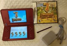 Nintendo DSi XL Burgundy Handheld System Console Complete Charger & Game Tested