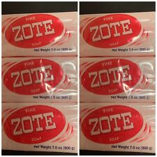 6 Pack Of Zote Pink Laundry Bar Soap