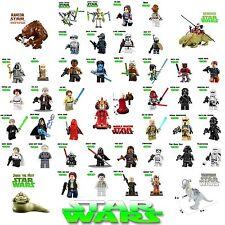 LEGO MINIFIGURES STAR WARS JEDI JABBA DARTH VADER YODA EWOK Grievous CUSTOM CLON
