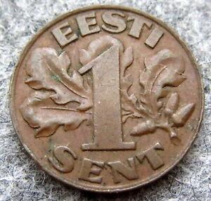 ESTONIA 1929 1 SENT, HIGH GRADE