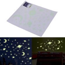 Etiqueta de pared decoración estrella luminosa parche fluorescente 3D dormitoriK