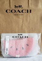 🍉NWT🍉 Coach Watermelon Slice Wristlet Pouch Bag Charm Pink Org $128