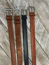 Will Leather Goods Assorted Dress Bill Adler Belt Lot Of 4 NEW 36