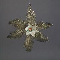Tinselstern - Ornament aus Draht, Tinsel und  Engel Oblate, ~ 1920  (# 11876)