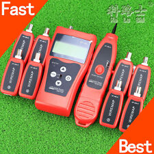 Network LAN Cable Tester Phone Wire Tracker LCD RJ45 BNC Scanner 8 Identifiers