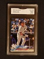 * GEM MINT 10 * GLEYBER TORRES YANKEES ROOKIE #US200 RC 2018 TOPPS UPDATE PSA ??