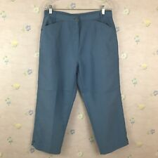 Woolrich Capri Cropped Pants Size 10 30x22 Sky Modal Blend