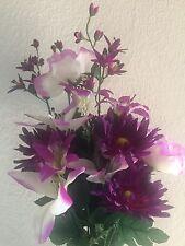 Lily and dahlia bush bouquet -silk flower floral arrangements.