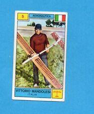 CAMPIONI SPORT 1969-70-PANINI-Figurina n.5- MANDOLESI -ITALIA-AERONAUTICA -Rec