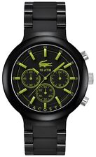 LACOSTE MEN'S ACRYLIC/RUBBER LASER REFLECT WATCH 2010756