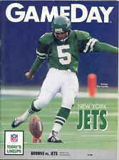Cleveland Browns vs. New York Jets 10/6/91 GameDay Game Program...Pat Leahy