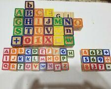Garanimals 65 Color Wooden Alphabet & Number Building Blocks Set