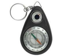 "4.5"" MINI SURVIVAL CAMPING COMPASS THERMOMETER KEYCHAIN"