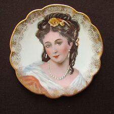 Limoges Porcelain Miniature Portrait Plate